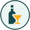 Icon representing alcohol