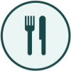 Restaurant Icon: Fork and Knife side by side