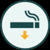 Icon representing smoking areas