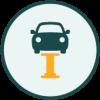 Icon representing vehicle repair facilities